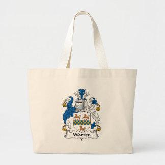 Warren Family Crest Canvas Bags