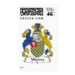 Warren Family Crest Postage Stamp