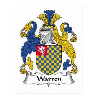 Warren Family Crest Postcard