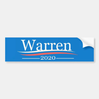 Warren for President, 2020, classic Bernie blue Bumper Sticker