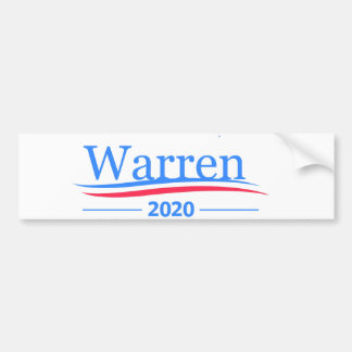 Warren for President 2020, classic Bernie white Bumper Sticker