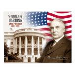 Warren G. Harding - 29no presidente de los E.E.U.U Tarjeta Postal