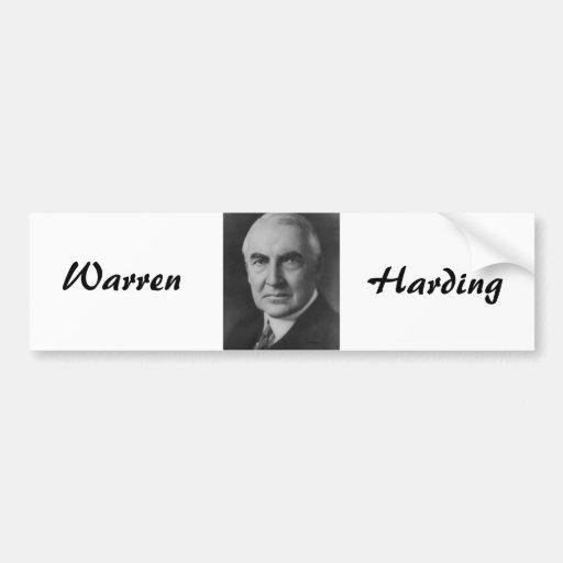 Warren G. Harding 29th President Bumper Sticker