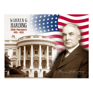 Warren G. Harding -  29th President of the U.S. Postcard