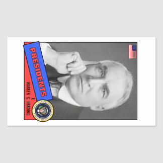 Warren G. Harding Baseball Card Rectangular Sticker