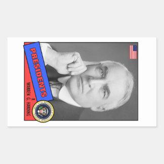 Warren G. Harding Baseball Card Rectangular Stickers