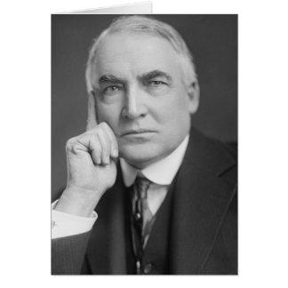 Warren G. Harding Greeting Card
