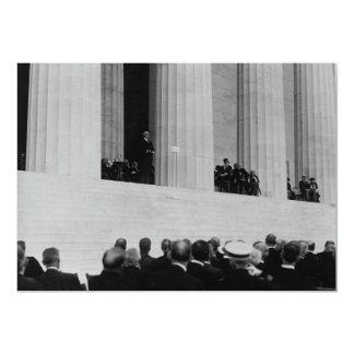 Warren G. Harding Dedication Lincoln Memorial Card