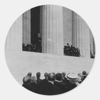 Warren G. Harding Dedication Lincoln Memorial Classic Round Sticker