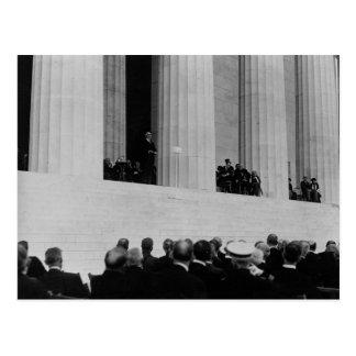 Warren G. Harding Dedication Lincoln Memorial Postcard