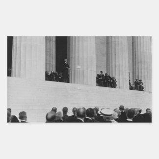 Warren G. Harding Dedication Lincoln Memorial Rectangular Sticker
