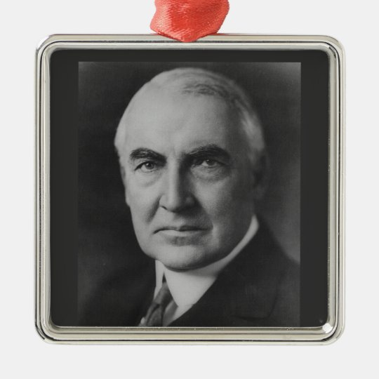 Warren G. Harding Metal Ornament