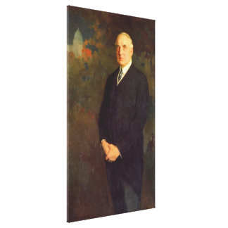WARREN G. HARDING Portrait by Edmund Hodgson Smart Canvas Print