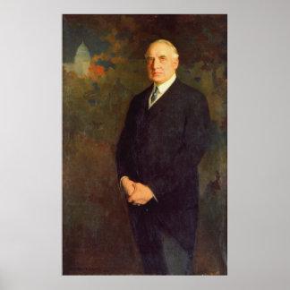 WARREN G. HARDING Portrait by Edmund Hodgson Smart Poster