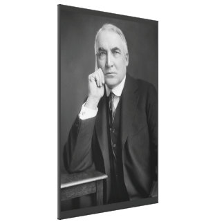 WARREN G. HARDING Portrait by Harris & Ewing Print