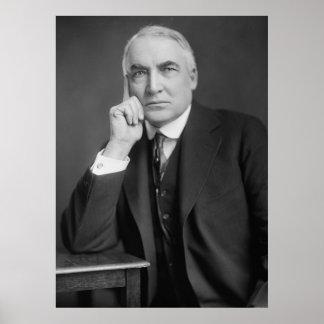 WARREN G. HARDING Portrait by Harris & Ewing Print