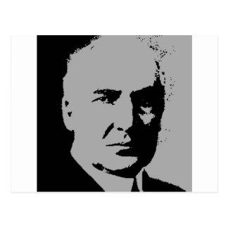 Warren G. Harding silhouette Postcard