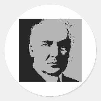 Warren G. Harding silhouette Round Stickers