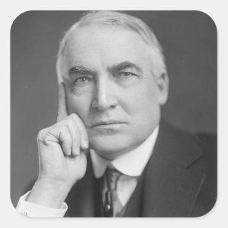 Warren G. Harding Square Sticker