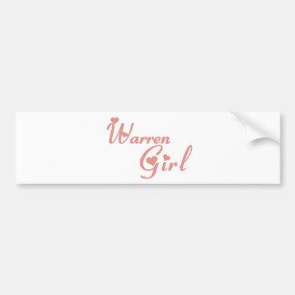 Warren Girl tee shirts Car Bumper Sticker