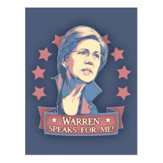 Warren habla para mí tarjetas postales