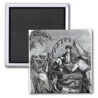 Warren Hastings en la India en 1784 Imán Cuadrado