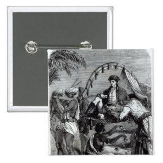 Warren Hastings en la India en 1784 Pin Cuadrada 5 Cm