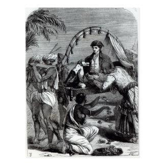 Warren Hastings en la India en 1784 Postal