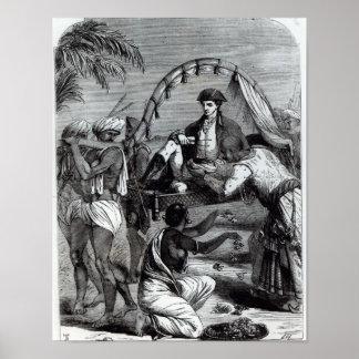 Warren Hastings en la India en 1784 Póster