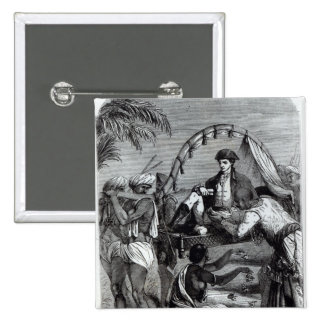 Warren Hastings  in India in 1784 Button