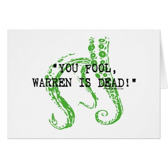 Warren is dead H. P. Lovecraft Card