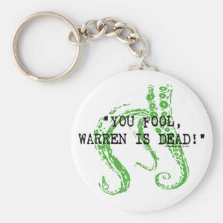 Warren is dead H. P. Lovecraft Basic Round Button Keychain