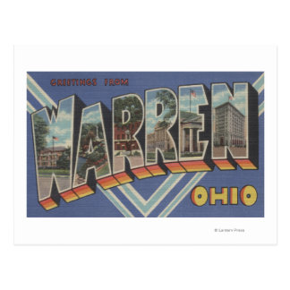 Warren, letra ScenesWarren, OH de OhioLarge Tarjeta Postal
