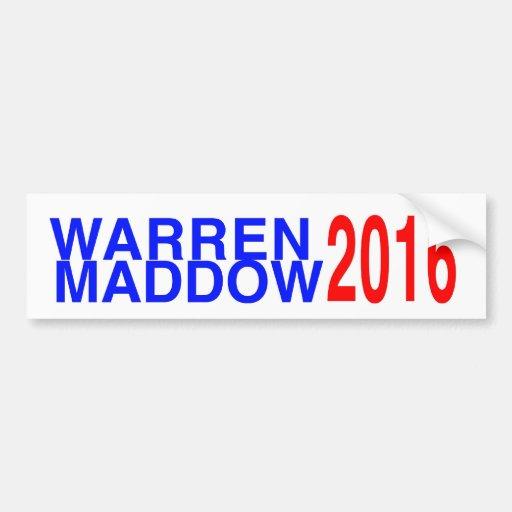 Warren/Maddow 2016 Bumper Stickers