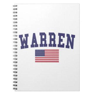 Warren MI US Flag Notebook