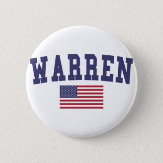 Warren OH US Flag Pinback Button
