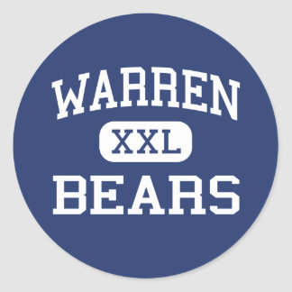Warren - osos - High School secundaria - Downey Pegatina Redonda
