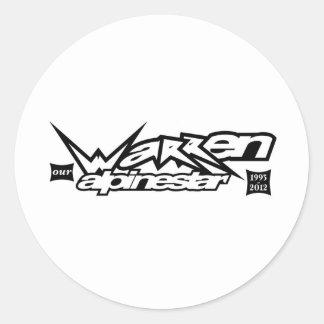 Warren Our Alpinestar.jpg Round Sticker