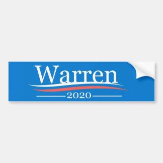 Warren para el presidente, 2020, azul clásico de pegatina para auto