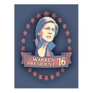 Warren Pres '16 Postcard