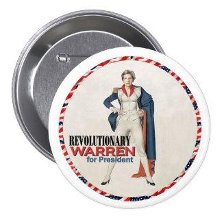 Warren revolucionario pin redondo de 3 pulgadas