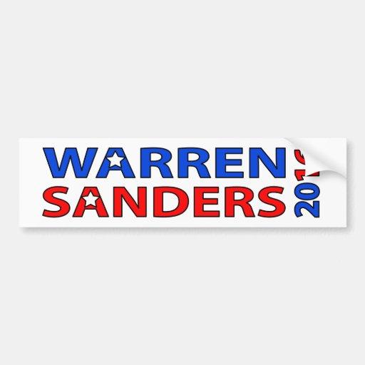 Warren Sanders 2016 Bumper Sticker