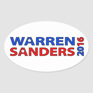 Warren Sanders 2016 Oval Sticker