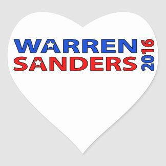 Warren Sanders 2016 Heart Sticker