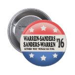 Warren - Sanders, Sanders Warren 2 Inch Round Button