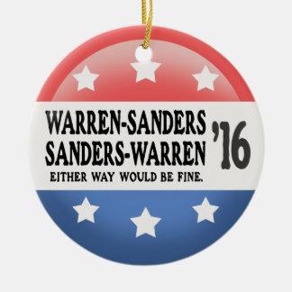 Warren - Sanders, Sanders Warren Ceramic Ornament