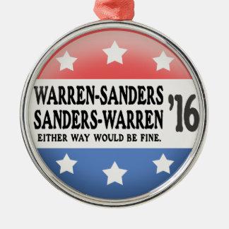 Warren - Sanders, Sanders Warren Metal Ornament