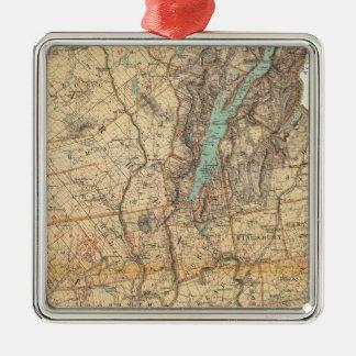 Warren, Saratoga, Washington counties Metal Ornament