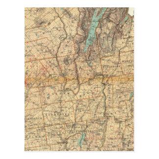 Warren, Saratoga, Washington counties Postcard