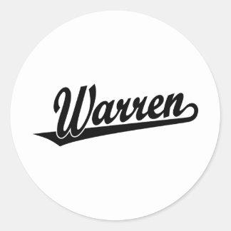 Warren script logo in black sticker